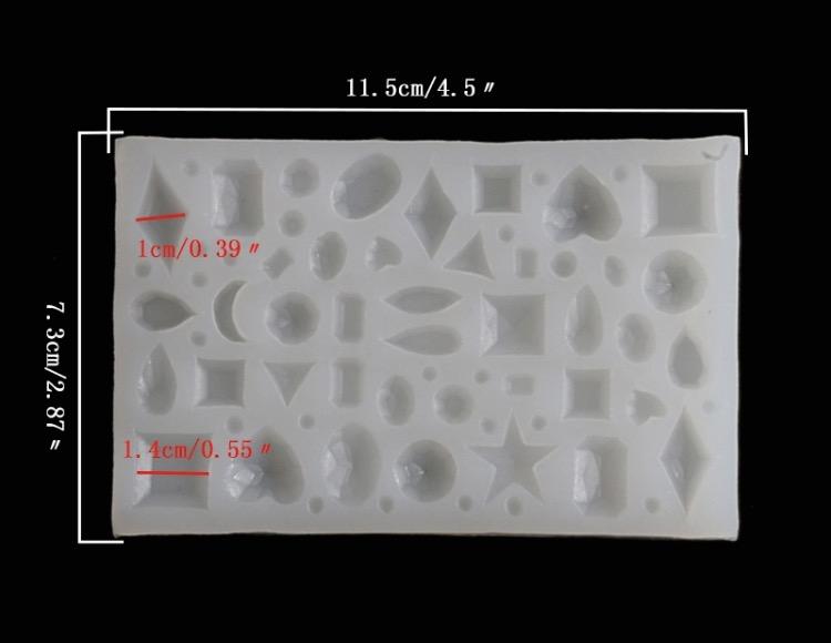 Molde Para Imprimir De Laco Lonita De Cilicone: Molde Silicone Para Jóias